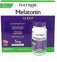 Natrol Melatonin 5 mg, Strawberry Flavor, Fast Dissolve Tablets, 250 Count