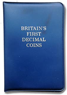 Stampbank Britain's first decimal coins 1971 Decimal Day presentation pack. Coins from 1968 and 1971 with 1/2p, 1 pence, 2 pence, 5 pence and 10 pence uncirculated