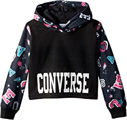 Converse Kids - Printed Cropped Pullover (Toddler/Little Kids)