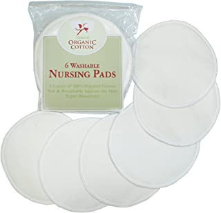 TL Care Organic Cotton Nursing Pads, Natural, 6 Count
