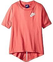 Nike Kids Sportswear Split Short Sleeve Top (Little Kids/Big Kids)