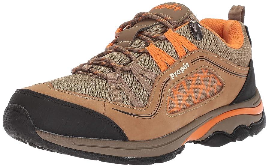 囚人その間シーフード[Propet] Women's Piccolo Gunsmoke/Orange Ankle-High Leather Hiking Shoe - 8M