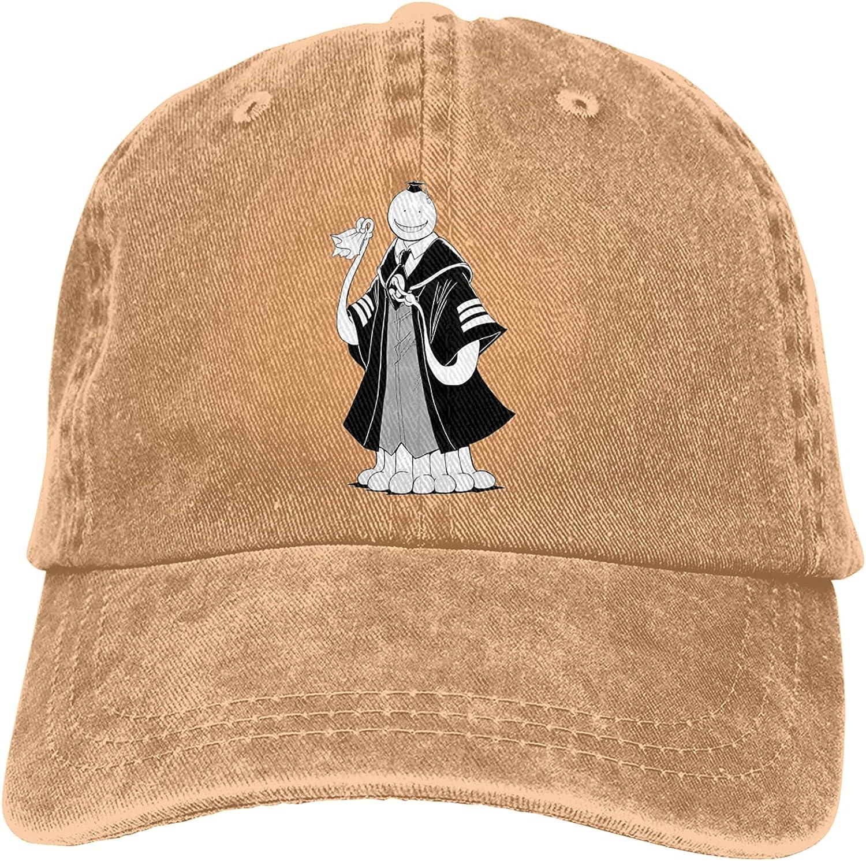 Assassination Classroom Unisex Adult Cowboy Hat Classic Curved Brim Hat Freely Adjustable Cap Black