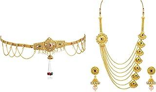Sukkhi Fashion Jewellery for Women Golden (KB71865GLDPJ092017 + N71928GLDPH092017)