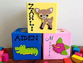 Personalized wooden shape sorter baby toy montessori