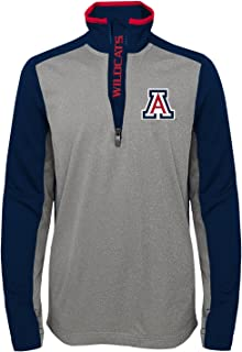 "Outerstuff NCAA Youth Boys""Matrix"" 1/4 Zip Top 4808X, Light Charcoal, Youth Boys Small(8)"
