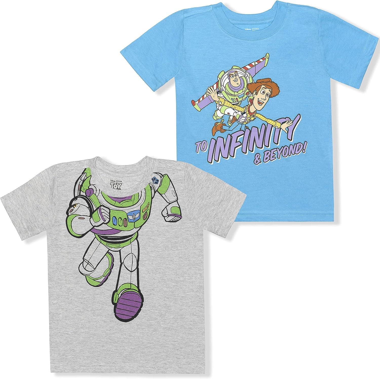 Disney Toy Story Boy's 2-Pack Buzz Lightyear Short Sleeve Tee Shirt Set