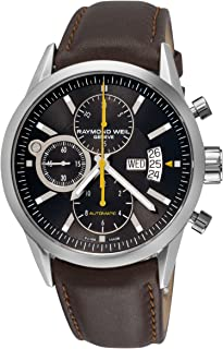 Raymond Weil Mens 7730-STC-20101 Freelancer Black Chronograph Dial Watch