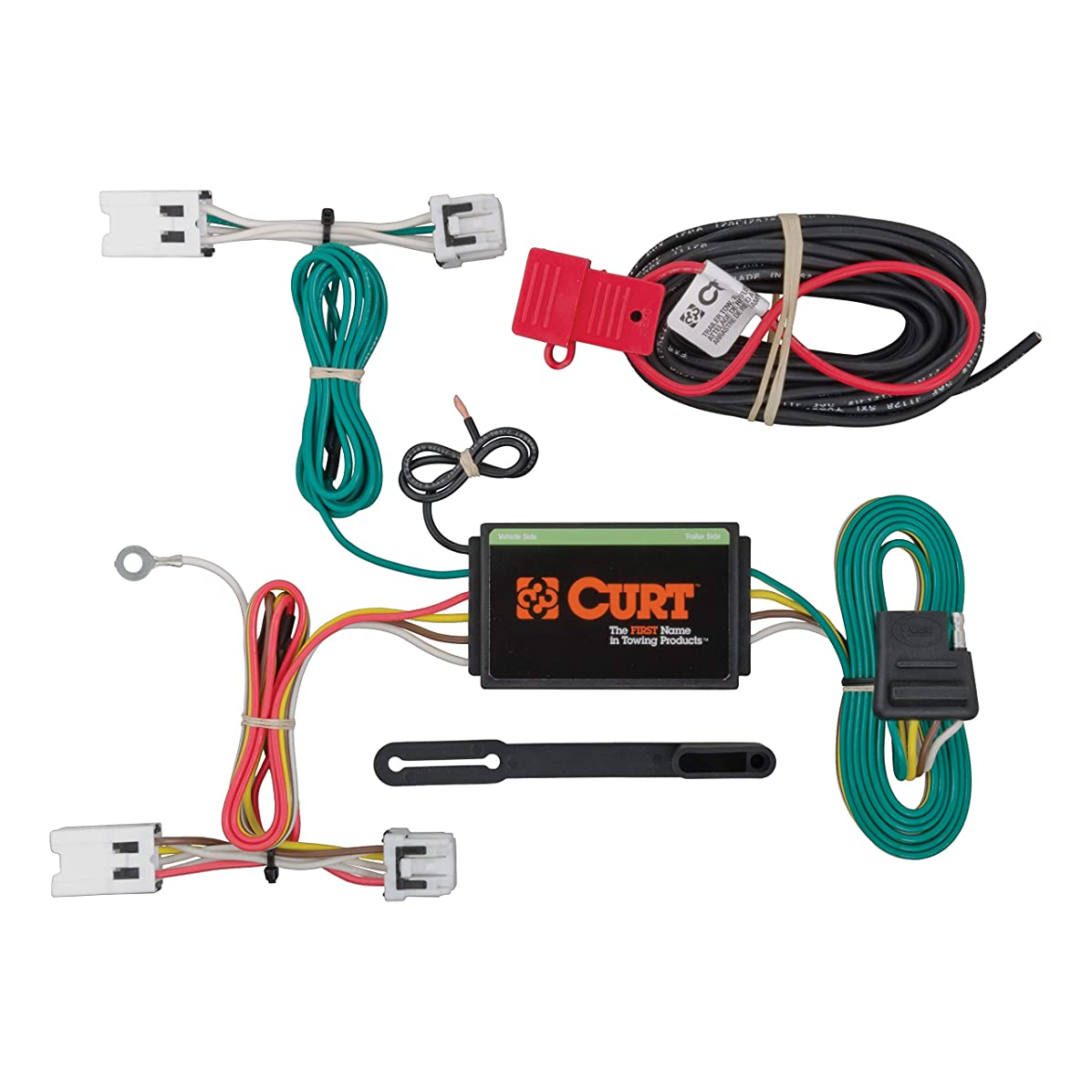 CURT 56205 Vehicle-Side Custom 4-Pin Trailer Wiring Harness for Select Nissan Sentra