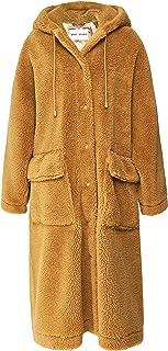 Stand Women's Jessica Oversized Teddy Coat Brown