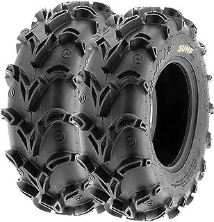 Pair of 2 SunF A050 AT 26x9-12 ATV UTV Deep Mud Terrain Tires, 6 PR, Tubeless