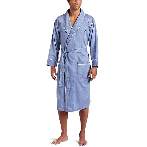 Nautica Men s Long Sleeve Lightweight Cotton Woven Robe 686f54972