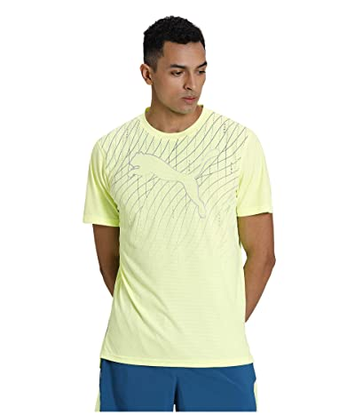 PUMA Run Graphic Cat Short Sleeve Tee (Fizzy Yellow) Men