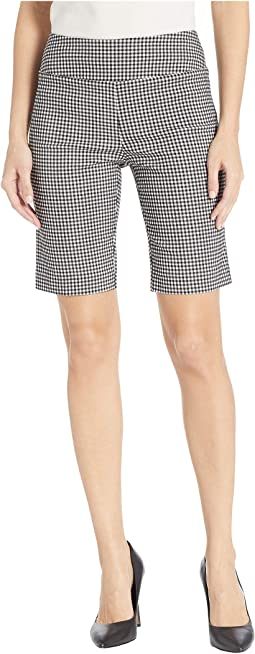 Stretch Gingham Pull-On Shorts