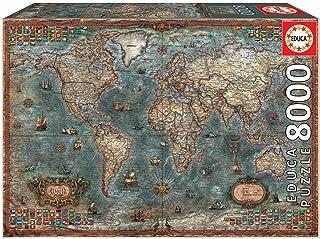 Educa-8000 Mappemonde Historique Puzzle, 18017, Varié, 8000 Piezas