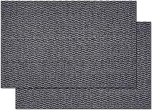 "2-Pack Door Mat Outside Inside Front Door mat, 16""x24"" Entrance Door Mat with Rubber Backing, Durable Dirt Trapper Rug, Gray"