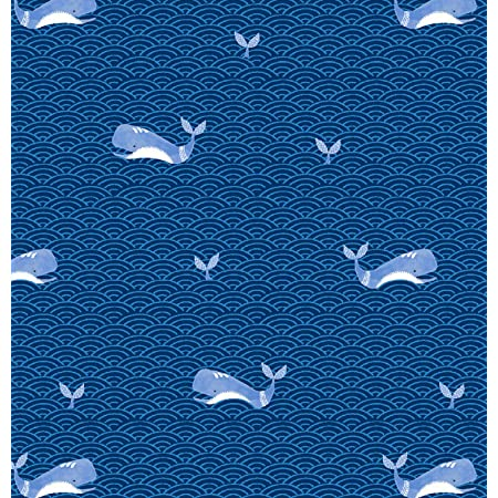 Flannel Fabric 100/% Cotton Flannel By the yard Whales Red Blue