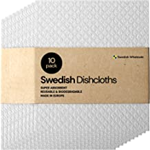 Swedish Dishcloths Wholesale Sponge Cloth - Bulk 10 Pack Reusable Eco-Friendly Biodegradable Cellulose Cleaning Dishcloth ...