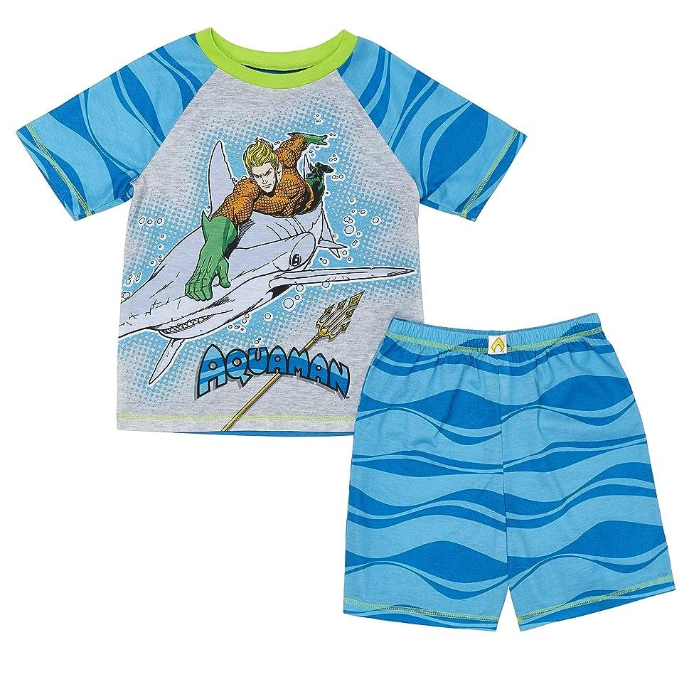 ラブ概してファシズムKomar Kids Boys' DC Comics Aquaman Retakes Atlantis Boys Pajama with Shorts