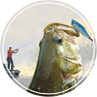 Largemouth Bass Fishing Vinyl Bumper Sticker Boat Decal Fishing Tackle Boxes Stickers Fish Decals Car Fishing Boating Tackle Box Funny Stickers Bass Fishing Decals for Trucks USA America S028