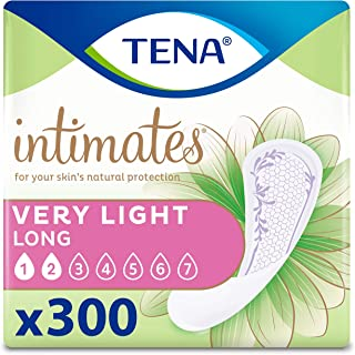 Tena Intimates Very Light Bladder Control Liners for Women, 300 Count (6 Packs of 50)