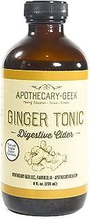 Apothecary Geek Organic Ginger Tonic- Digestive Cider (8 oz.)