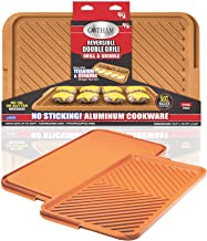 Gotham Steel Double Grill, X-Large, Brown