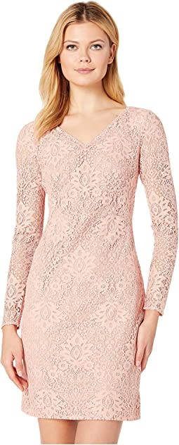 155H Aura Floral Lace Lontie Long Sleeve Day Dress