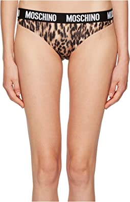 Moschino Leopard Print Brief