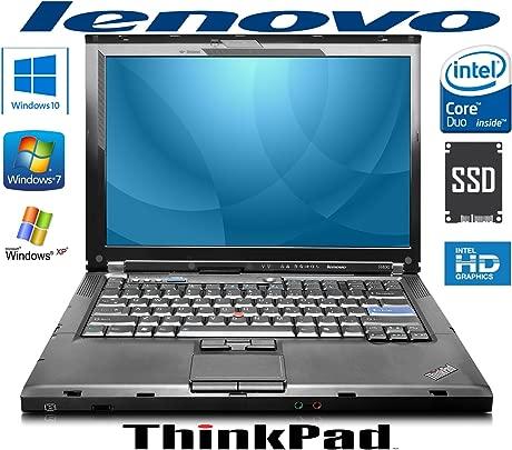 Lenovo T400 14 quot  Laptop Intel 2x2 26GHz 2GB RAM Win7