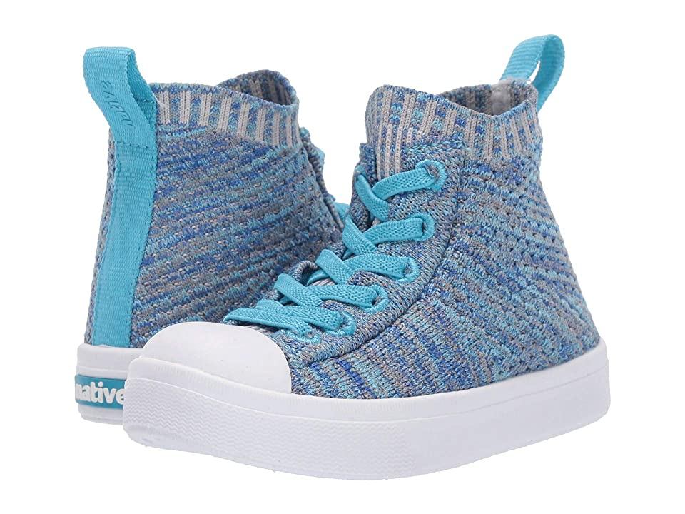 Native Kids Shoes Jefferson 2.0 High Lite (Toddler/Little Kid) (Hamachi Blue Melange/Shell White) Kids Shoes