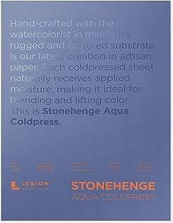 Legion Stonehenge Aqua Watercolor Block, 140lb. Cold Press, 10 X 14 inches, White, 15 Sheets (L21-SQC140WH1014)