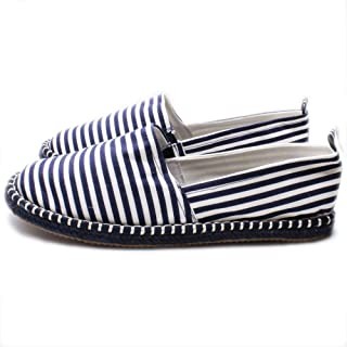 1c01fee0274687 Espadrillas Uomo Marina Yachting Blu a Righe Bianche Made in Italy Slip On Scarpe  Basse Senza