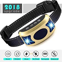PEDLZ Bark Stop Collar - Rechargeable and Waterproof Dog Training Collar - Sound, Vibration and Shock Anti Bark Collar - 7 Intensity Levels for Small, Medium or Large Dogs