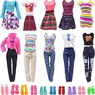 zheyistep Doll Clothes for 11.5 Inch Girl Doll 20 Pcs Casual Wear Clothes and Doll Accessories with 10 Pairs Shoes +10 Fas...