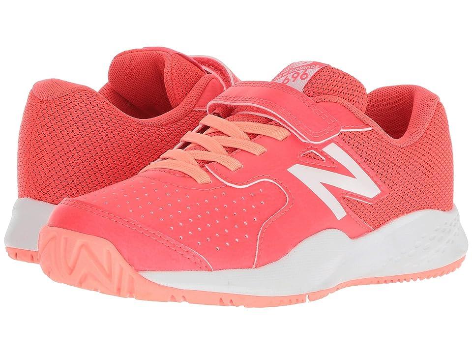 New Balance Kids KC696v3 Tennis (Little Kid/Big Kid) (Pink/White) Kids Shoes