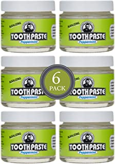 Uncle Harry's Natural & Fluoride-free Remineralizing Toothpaste - Freshens Breath & Strengthens Enamel - Peppermint, 3 Oun...