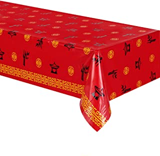 Beistle 59966 Asian Tablecover, Multicolor (Pack of 1)