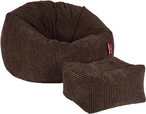 Lounge Pug®, Pouf Repose Pied, Pompon Chocolat
