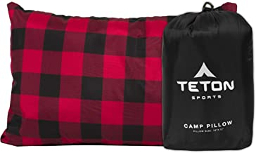 TETON Sports Camp Pillow; Perfect Anytime You Travel; Camping, Backpacking, Airplanes, and Road Trips; You Can Take It Anywhere and it's Washable