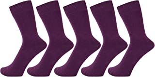 ZAKIRA Finest Combed Cotton Dress Socks in Plain Vivid Colours for Men, Women - Pack of 5