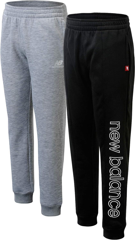 New Balance Boys' Sweatpants - 2 Pack Active Fleece Jogger Pants (Size: 4-20): Clothing, Shoes & Jewelry