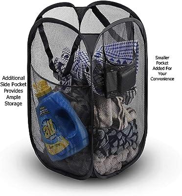 Kuber Industries Nylon Mesh Laundry Basket Organizer 20 LTR (Multi) -KUBMART2754