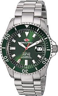 Seapro Men's Scuba 200 Automatic Stainless Steel Strap, Silver, 22 Casual Watch (Model: SP4318)