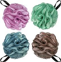 Large Loofahs Bath Sponge Shower Pouf Ball,Mesh Bath Mesh Pouf Mesh Bath and Shower Ball,75g/PCS and Pack of 4