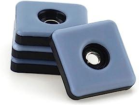 Teflon-meubelglijders, 4 stuks, 25 mm x 25 mm, 5 mm dik, incl. schroef 3,5 mm x 20 mm, PTFE-coating, tefllanladder, meubel...