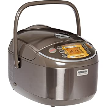 Zojirushi NP-NVC18 Induction Heating Pressure Cooker and Warmer, 10 Cups, Stainless Brown, Made in Japan