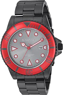 Men's Pro Diver Quartz Watch with Stainless-Steel Strap, Black, 9 (Model: 90296)