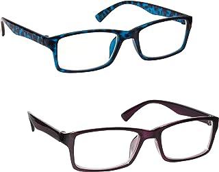 comprar comparacion Uv Reader Gafas De Lectura Azul Carey Y Púrpura Lectores Valor Pack 2 Hombres Mujeres Uvr2092Bl_P +1,00 2 Unidades 70 g