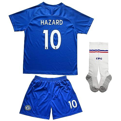 4b2881ae8e6 LES TRICOT 2018 2019 Chelsea Home  10 Hazard Football Futbol Soccer Kids  Jersey Shorts